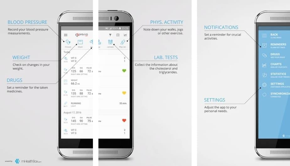 blood pressure measurement app, blood pressure monitor app for android