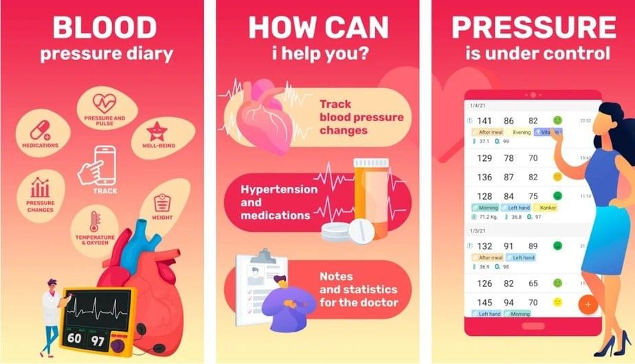 blood pressure app android, measure blood pressure app android