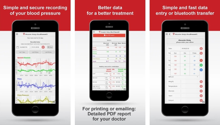 blood pressure app for android, blood pressure record app