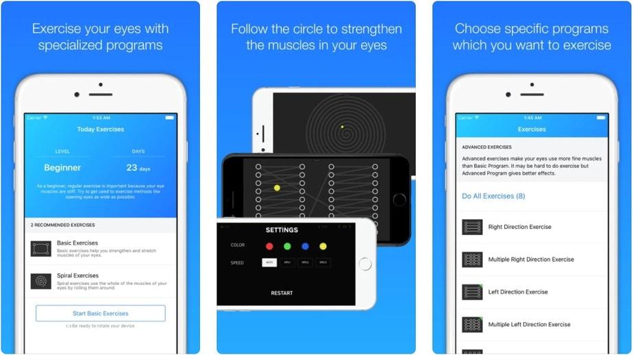 free eye exercise app, eyesight app