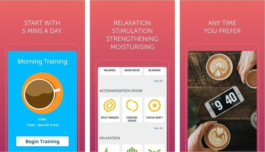 vision training app, lazy eye exercises app