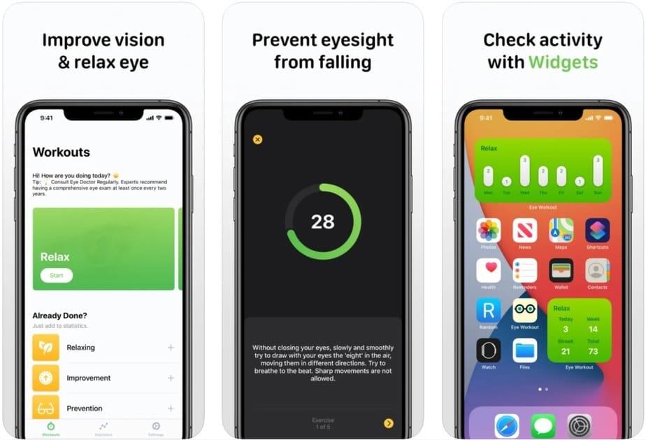 improving eyesight app, vision improving app