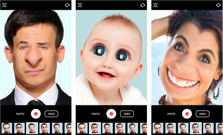 face warp video app