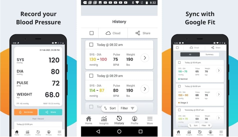 blood pressure app android free, bp check app