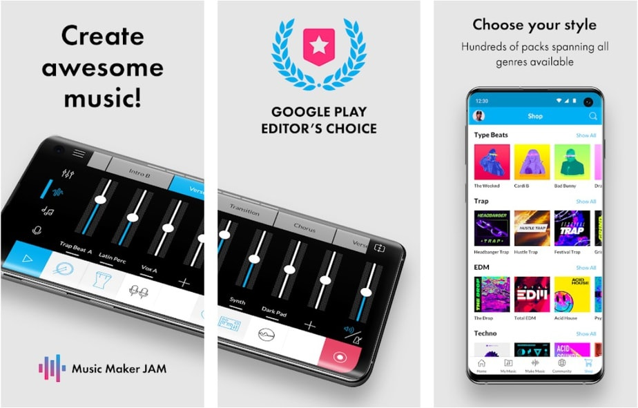 garageband alternative for android, app like garageband