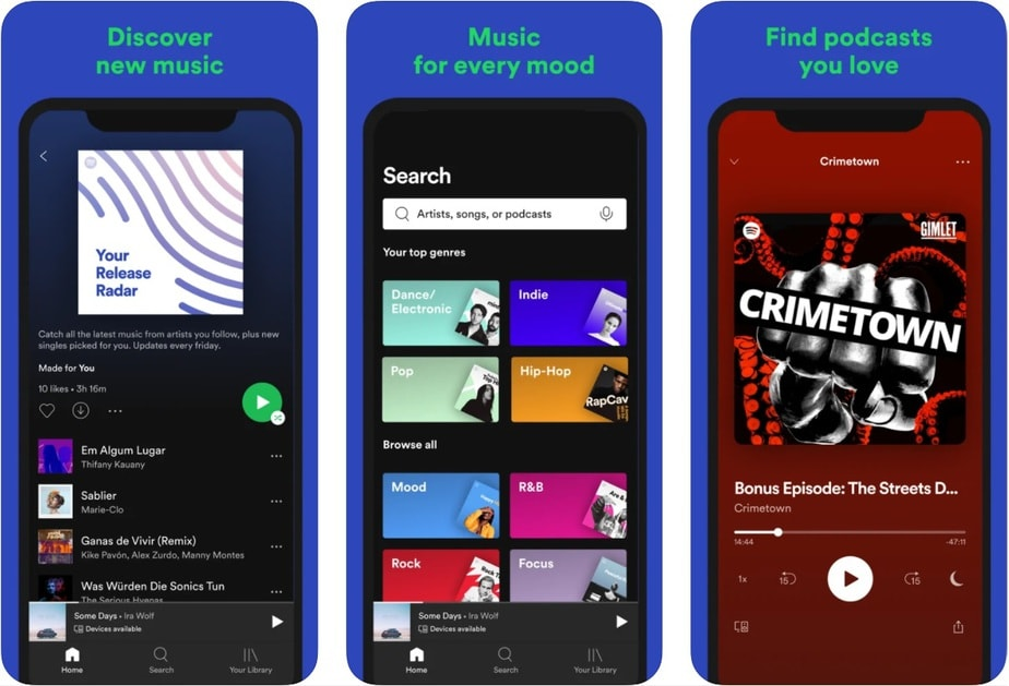 iphone music player app