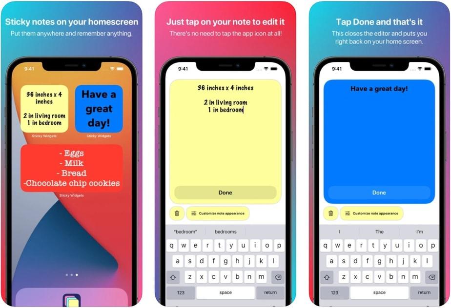 cool iphone home screen widget