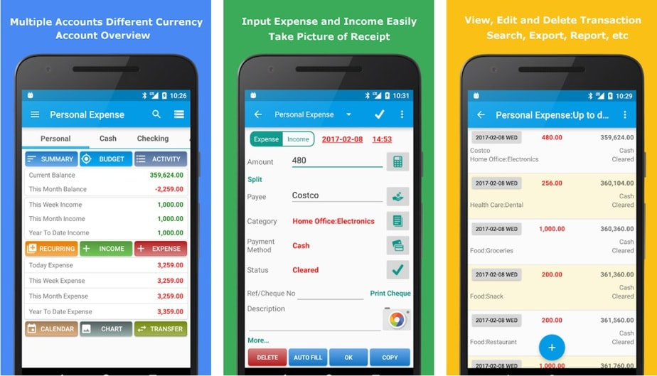 checkbook app for android