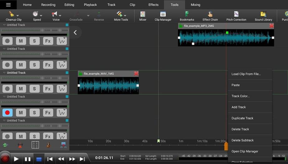 songs mixing app