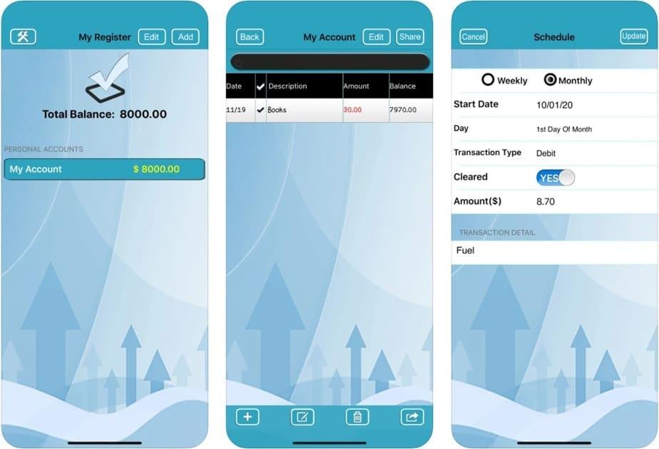 checkbook app for ipad
